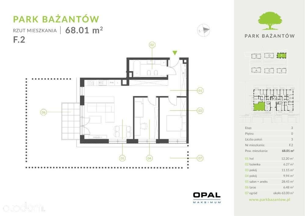 Mieszkanie trzypokojowe na sprzedaż Katowice, Kostuchna, Bażantów 20  68m2 Foto 1