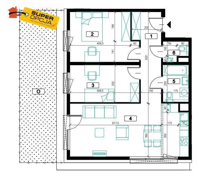 Mieszkanie trzypokojowe na sprzedaż Kraków, Prądnik Biały  71m2 Foto 2