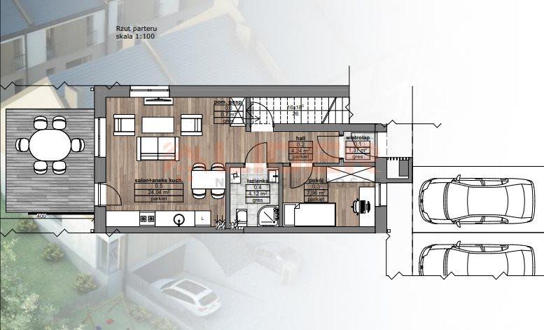 Mieszkanie dwupokojowe na sprzedaż Porosły  42m2 Foto 2