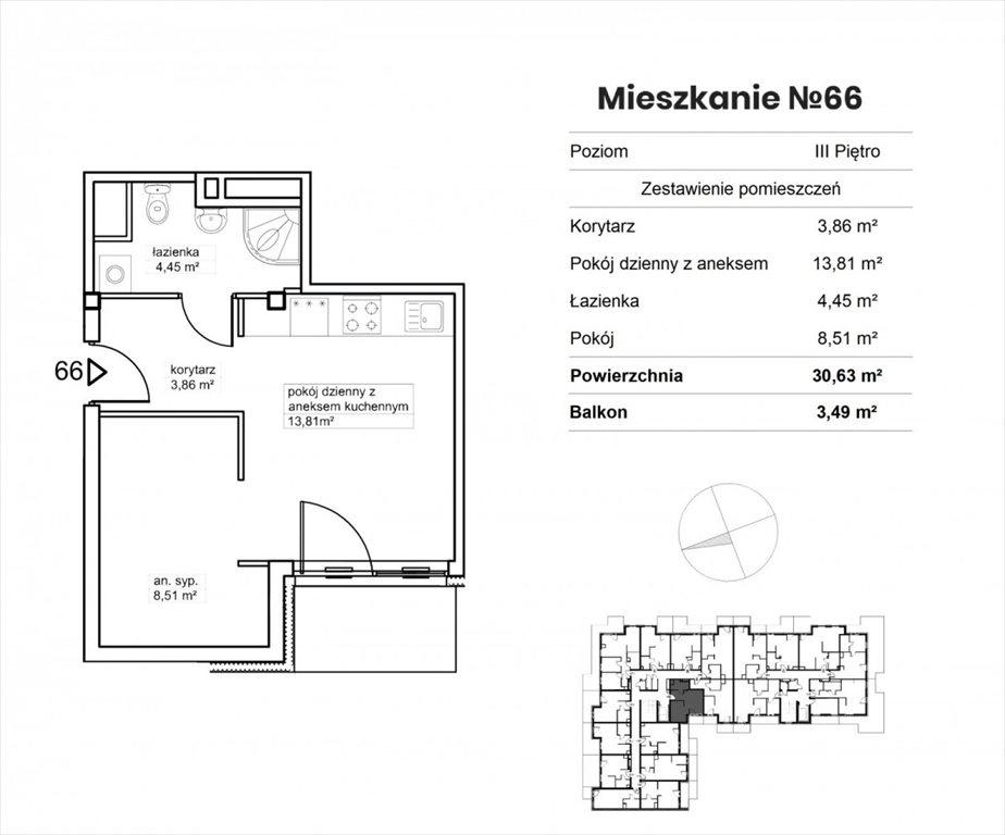 Mieszkanie dwupokojowe na sprzedaż Bydgoszcz, Okole, Garbary  31m2 Foto 8