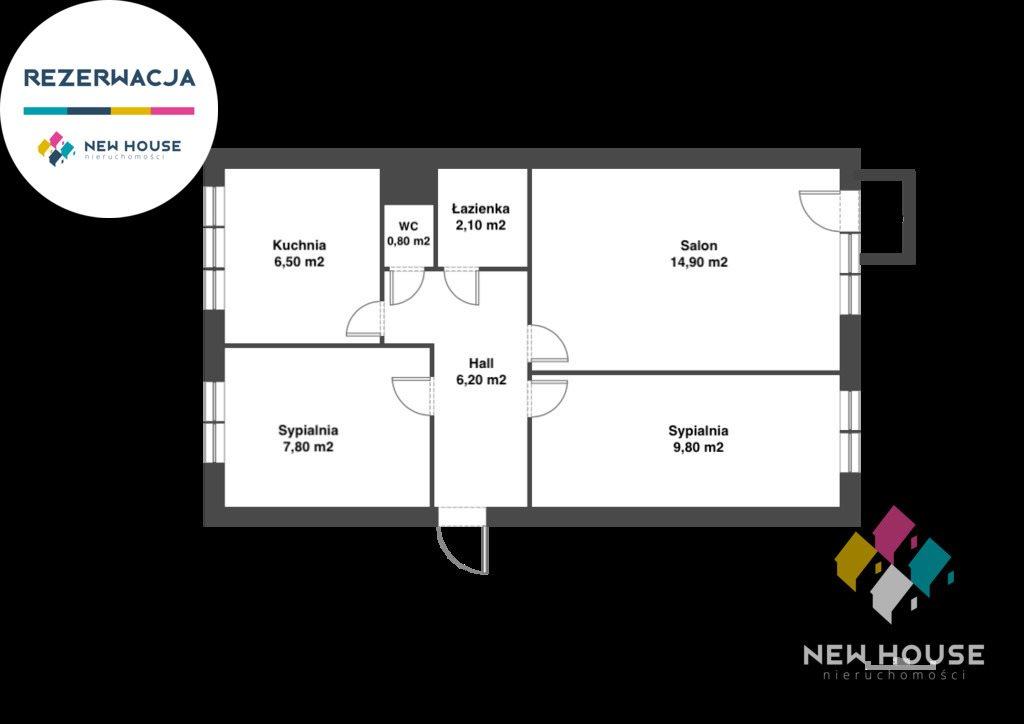 Mieszkanie trzypokojowe na sprzedaż Olsztyn, Kormoran, Dworcowa  48m2 Foto 8