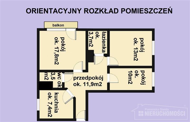 Mieszkanie trzypokojowe na sprzedaż Szczecinek, Centrum handlowe, Przedszkole, Władysława Bartoszewskiego  67m2 Foto 11