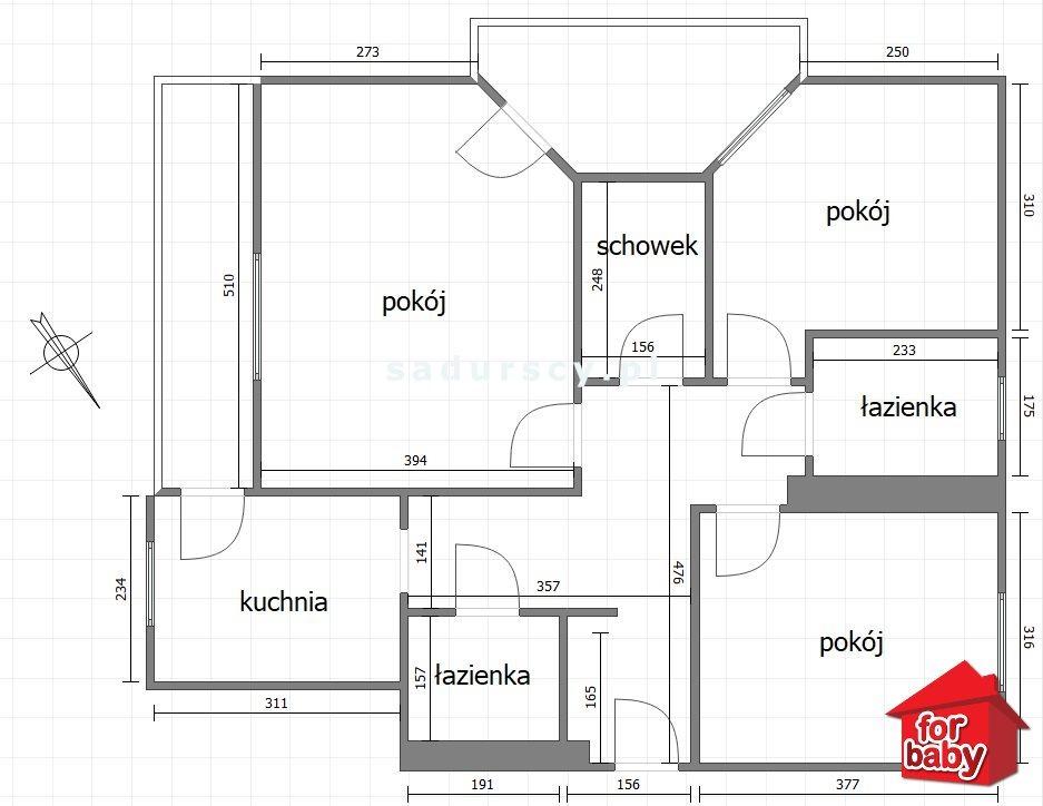 Mieszkanie trzypokojowe na sprzedaż Kraków, Prądnik Czerwony, Prądnik Czerwony, Raciborskiego  73m2 Foto 3