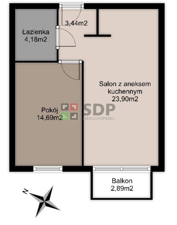 Mieszkanie dwupokojowe na sprzedaż Wrocław, Psie Pole, Zakrzów, Zatorska  46m2 Foto 4