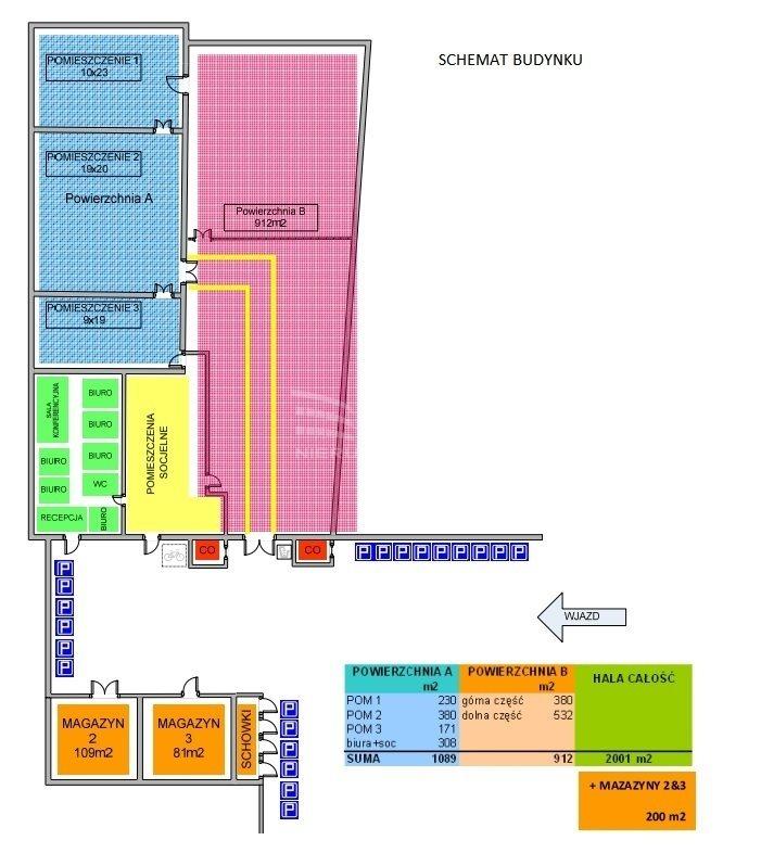 Lokal użytkowy na sprzedaż Pabianice, Hala magazynowo-produkcyjna/budownictwo mieszkaniowe/usługi  2200m2 Foto 3