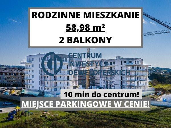 Mieszkanie trzypokojowe na sprzedaż Rzeszów, Miła  59m2 Foto 1