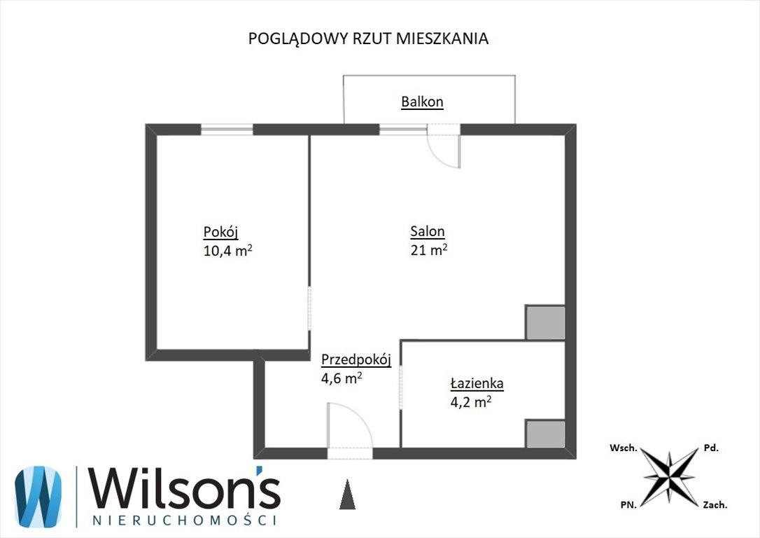 Mieszkanie dwupokojowe na sprzedaż Gdynia, Wielki Kack, Bieszczadzka  40m2 Foto 3