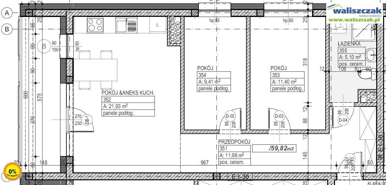 Mieszkanie trzypokojowe na sprzedaż Piotrków Trybunalski  60m2 Foto 1