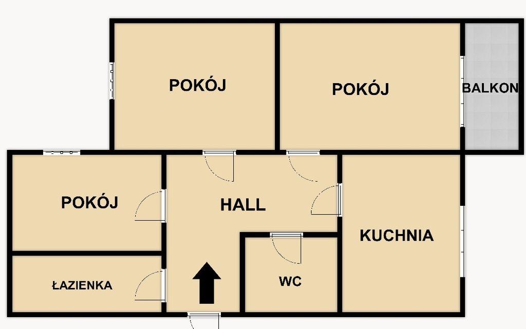 Mieszkanie trzypokojowe na sprzedaż Kraków, Mistrzejowice, Mistrzejowice, os. Oświecenia  61m2 Foto 1