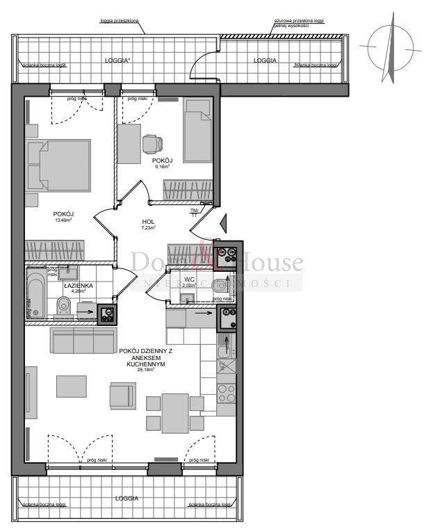 Mieszkanie trzypokojowe na sprzedaż Gdańsk, Wrzeszcz, Adama Mickiewicza  67m2 Foto 2