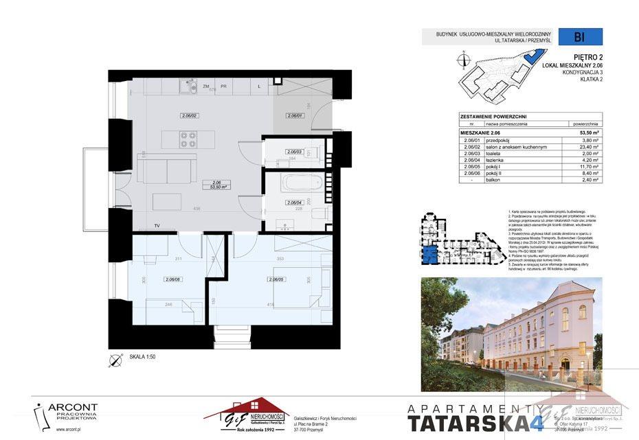 Mieszkanie trzypokojowe na sprzedaż Przemyśl, Tatarska  54m2 Foto 7