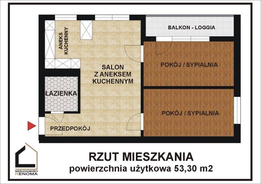 Mieszkanie trzypokojowe na sprzedaż Poznań, Nowe Miasto, Rataje, Os. Piastowskie  53m2 Foto 2