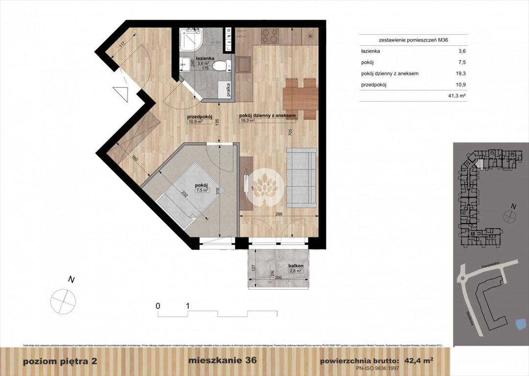 Mieszkanie dwupokojowe na sprzedaż Bydgoszcz, Czyżkówko, Siedlecka  42m2 Foto 10