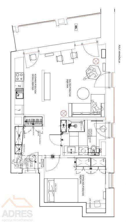 Mieszkanie dwupokojowe na wynajem Warszawa, Praga-Północ, Markowska  56m2 Foto 10