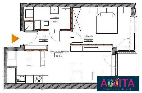 Mieszkanie dwupokojowe na sprzedaż Warszawa, Mokotów Sadyba, Nałęczowska  43m2 Foto 2