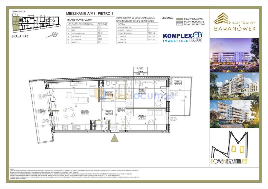 Mieszkanie trzypokojowe na sprzedaż Kielce, Baranówek, Kwarciana  75m2 Foto 6