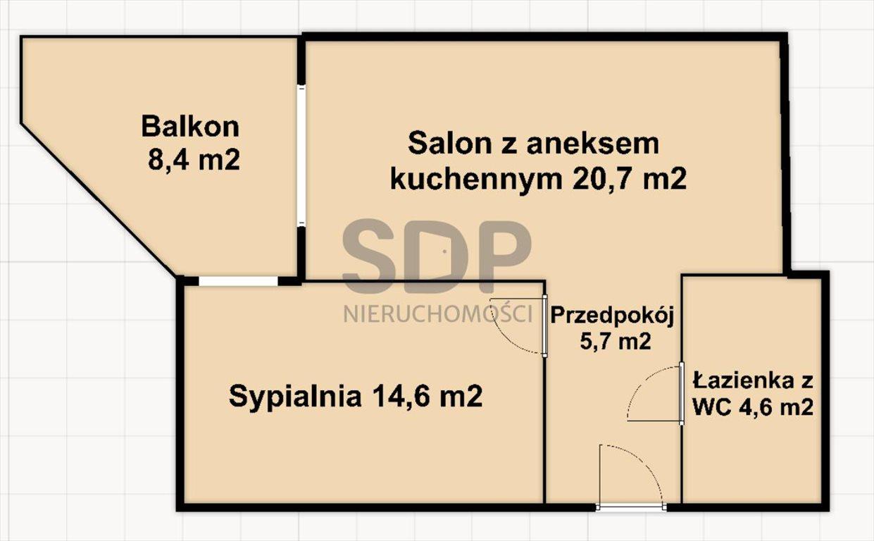 Mieszkanie dwupokojowe na sprzedaż Wrocław, Psie Pole, Swojczyce, Bacciarellego  46m2 Foto 2