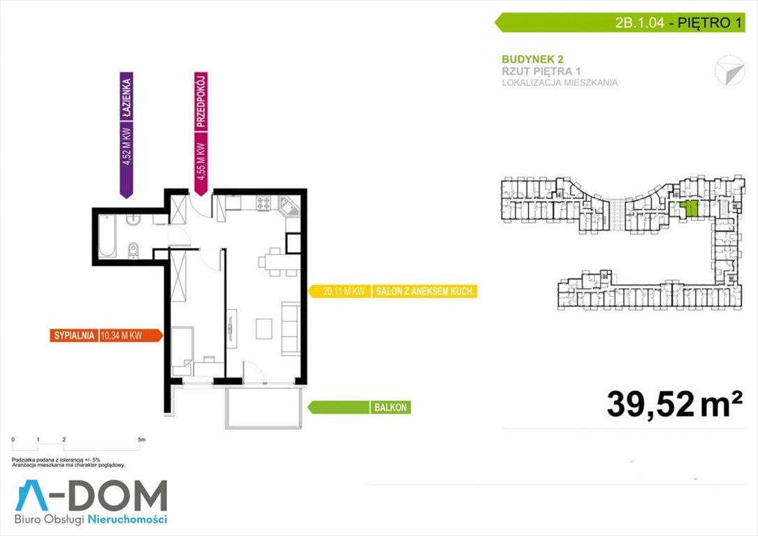 Mieszkanie dwupokojowe na sprzedaż Poznań, Malta  39m2 Foto 4