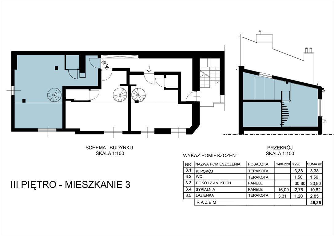 Mieszkanie dwupokojowe na sprzedaż Kraków, Śródmieście, Długa 52  49m2 Foto 2