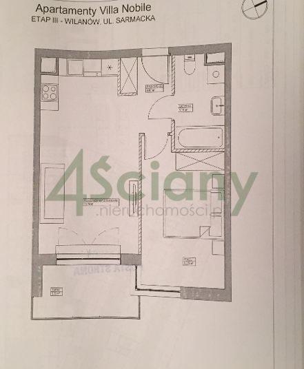 Mieszkanie dwupokojowe na wynajem Warszawa, Wilanów, Sarmacka  40m2 Foto 12