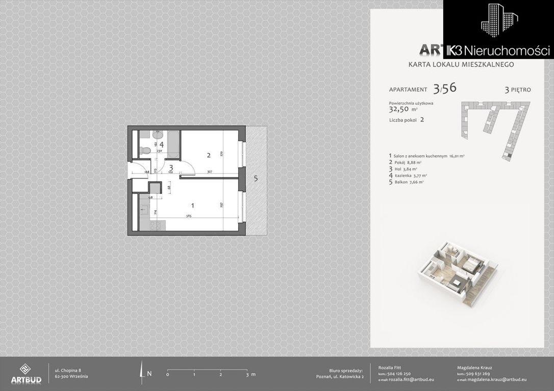 Mieszkanie dwupokojowe na sprzedaż Poznań, Malta, Katowicka  33m2 Foto 12