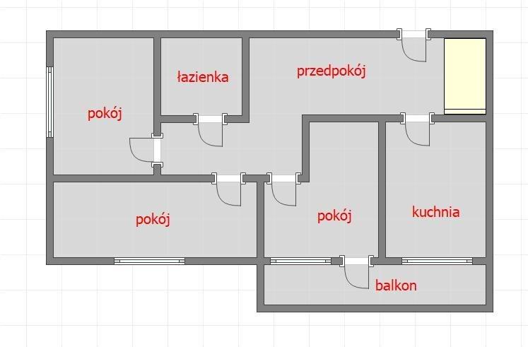 Mieszkanie trzypokojowe na sprzedaż Rzeszów, Husarska  50m2 Foto 7