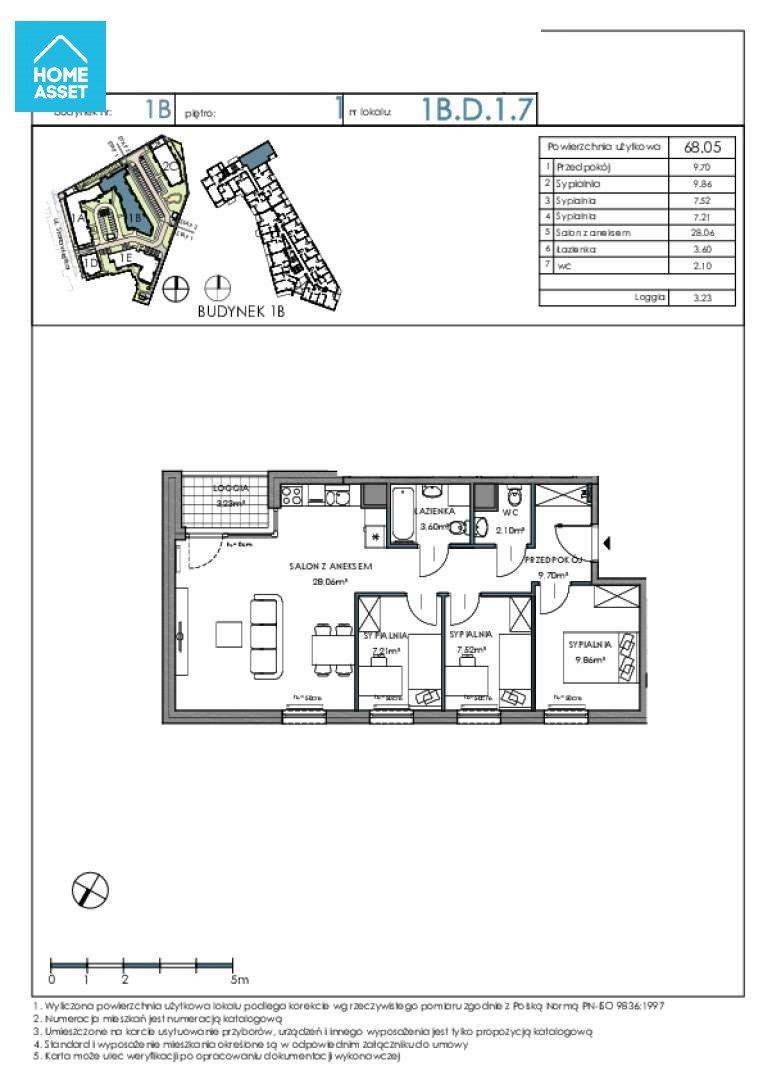 Mieszkanie czteropokojowe  na sprzedaż Gdańsk, Letnica, Starowiejska  68m2 Foto 5