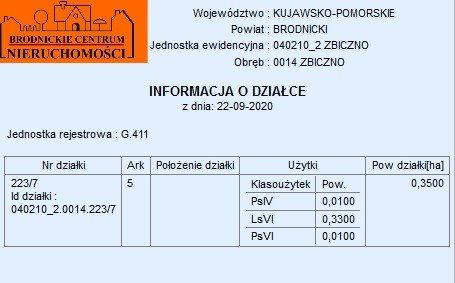 Działka inna na sprzedaż polska, Zbiczno  3500m2 Foto 5