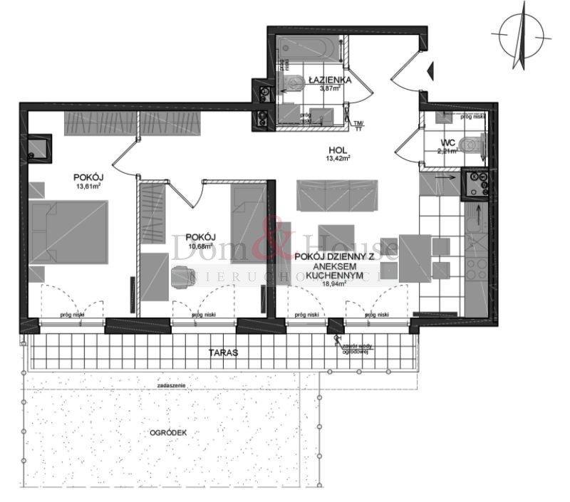 Mieszkanie trzypokojowe na sprzedaż Gdańsk, Wrzeszcz, Adama Mickiewicza  65m2 Foto 3