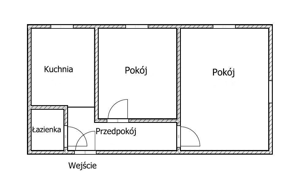 Mieszkanie dwupokojowe na sprzedaż Grudziądz  51m2 Foto 9