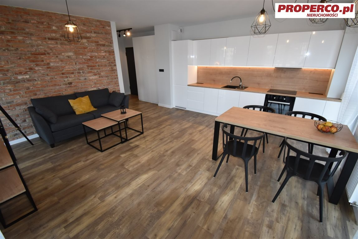 Mieszkanie dwupokojowe na wynajem Kielce, Centrum, Ściegiennego  48m2 Foto 3