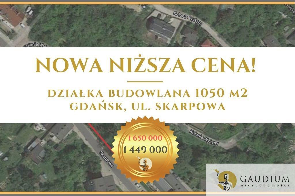 Działka budowlana na sprzedaż Gdańsk, Suchanino, Skarpowa  1050m2 Foto 1