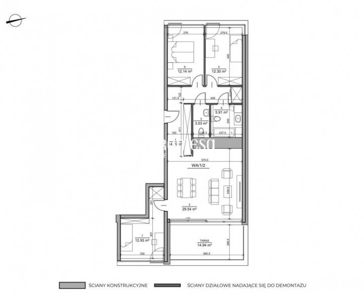 Mieszkanie czteropokojowe  na sprzedaż Wrocław, Fabryczna, Żerniki  90m2 Foto 10