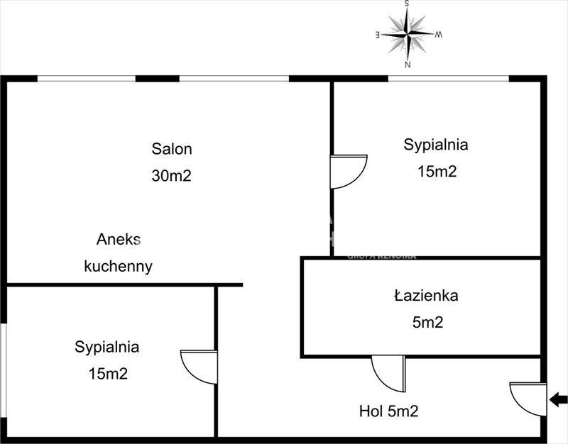 Mieszkanie trzypokojowe na wynajem Gdańsk, Śródmieście, Szafarnia  60m2 Foto 2