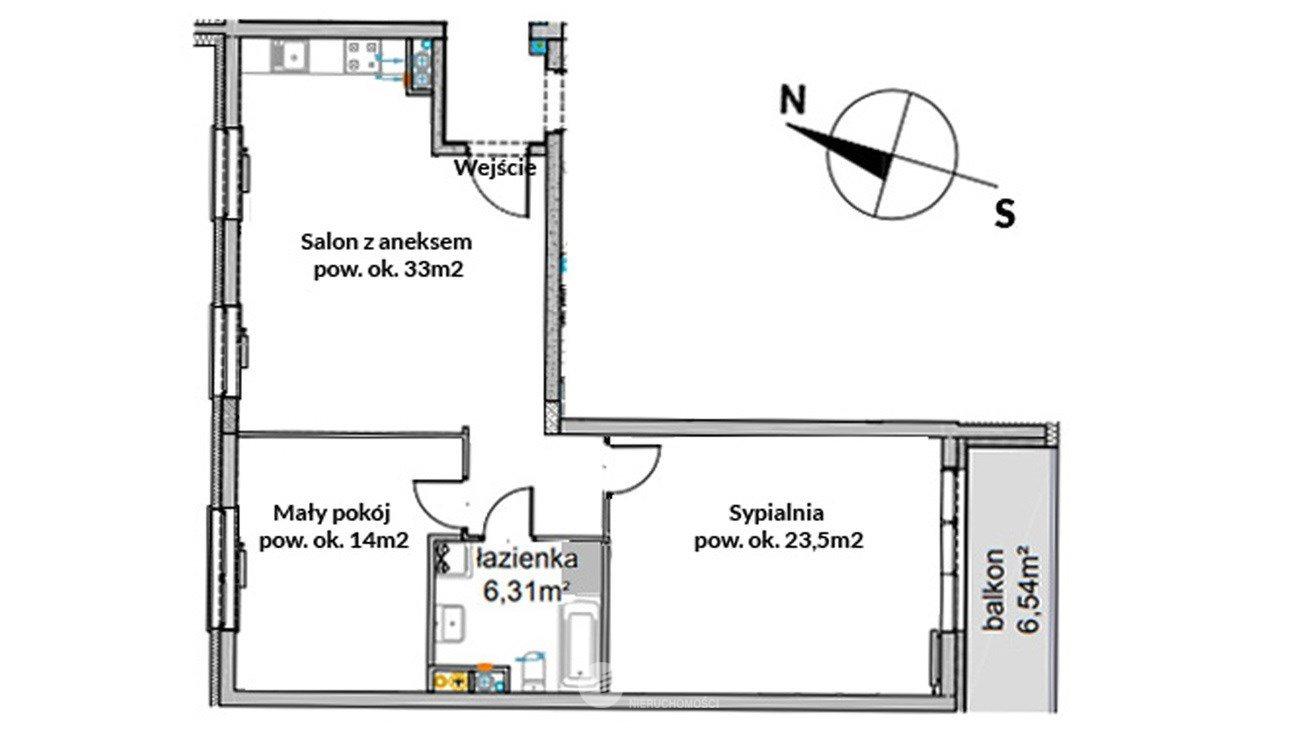 Mieszkanie trzypokojowe na sprzedaż Wrocław, Krzyki, Przyjaźni  77m2 Foto 11