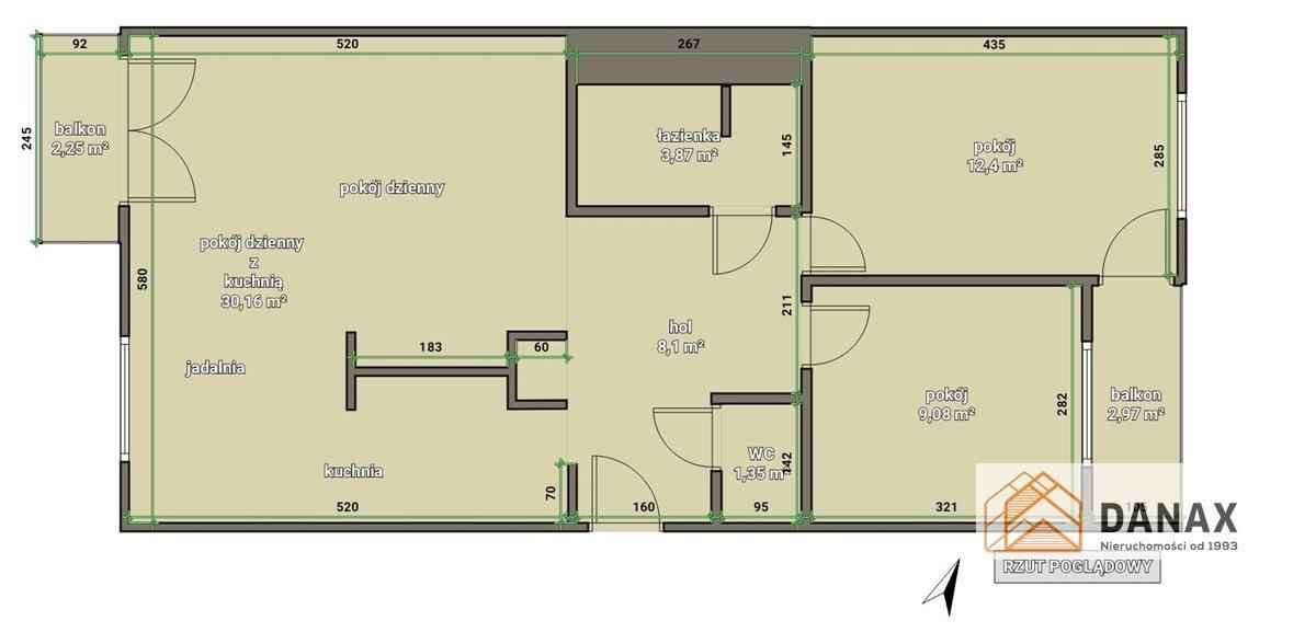 Mieszkanie trzypokojowe na sprzedaż Kraków, Dębniki, Ruczaj, prof. Michała Bobrzyńskiego  66m2 Foto 2