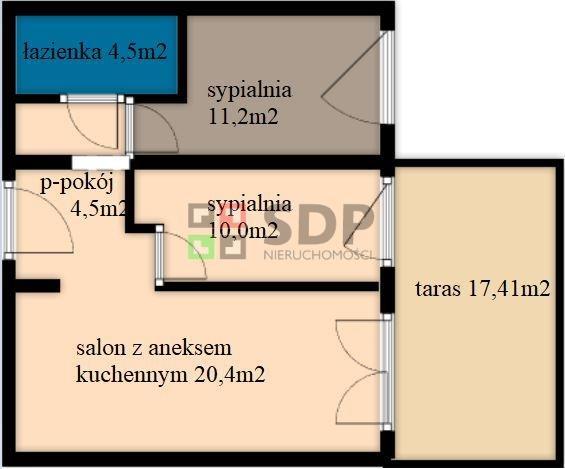 Lokal użytkowy na sprzedaż Wrocław, Krzyki, Jagodno, Buforowa  53m2 Foto 3