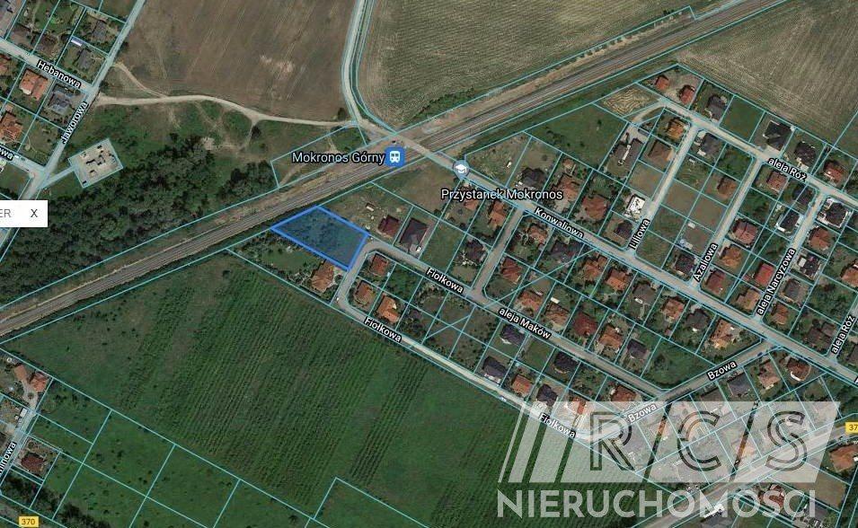 Działka budowlana na sprzedaż Mokronos Górny, Fiołkowa  2066m2 Foto 1
