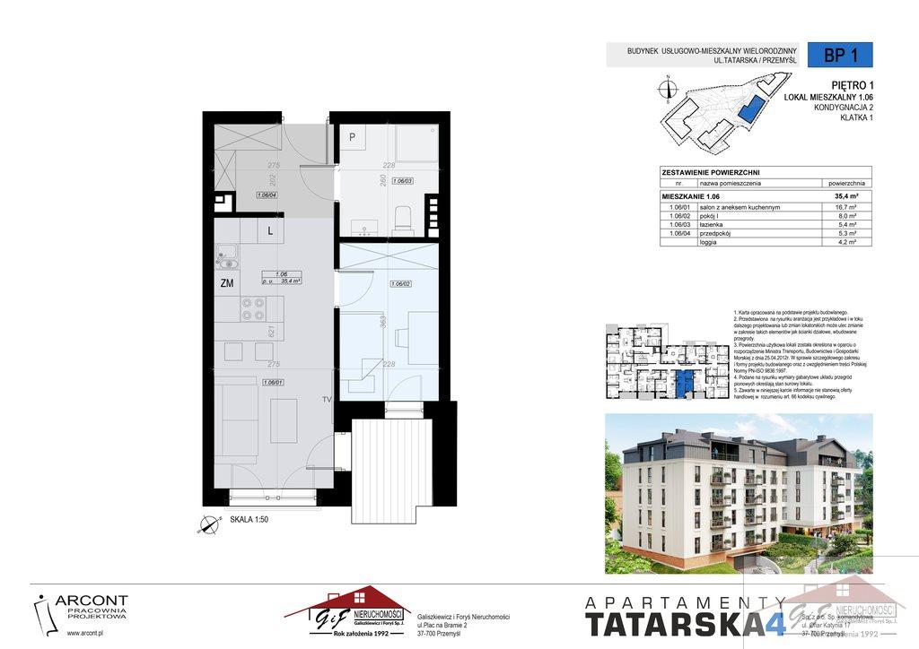 Mieszkanie dwupokojowe na sprzedaż Przemyśl, Tatarska  35m2 Foto 8