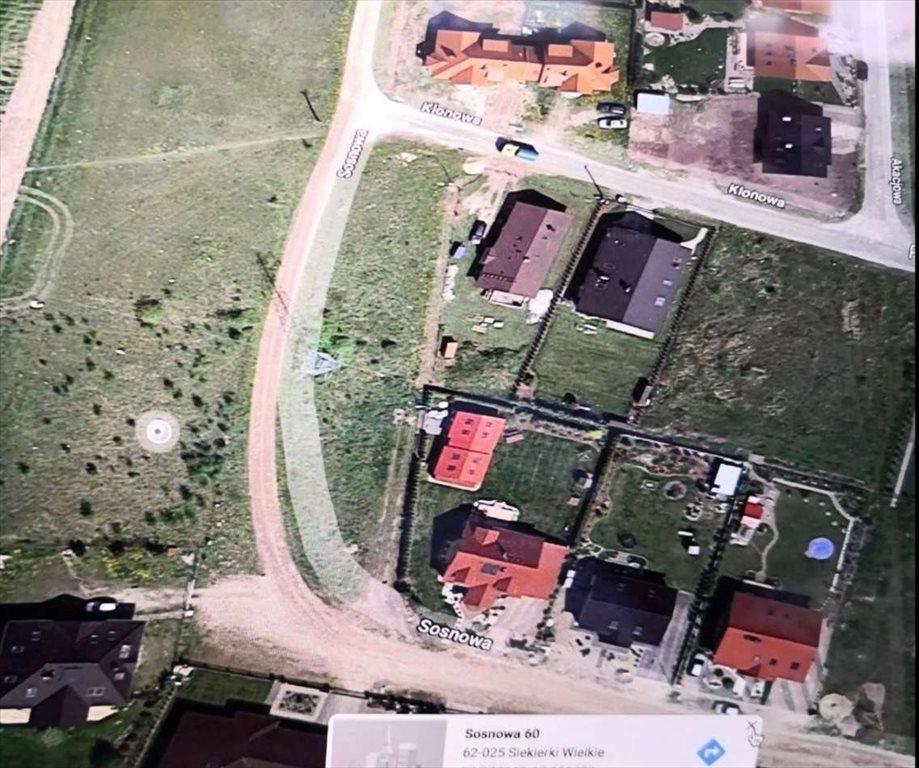 Działka budowlana na sprzedaż Siekierki Wielkie, ul. sosnowa  1404m2 Foto 3