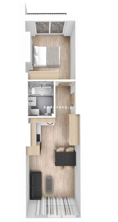 Mieszkanie dwupokojowe na sprzedaż Kraków, Śródmieście, Mazowiecka  38m2 Foto 1