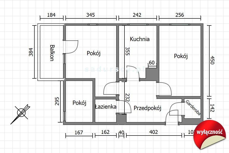 Mieszkanie trzypokojowe na sprzedaż Kraków, Bieżanów-Prokocim, Bieżanów, Mała Góra  53m2 Foto 3