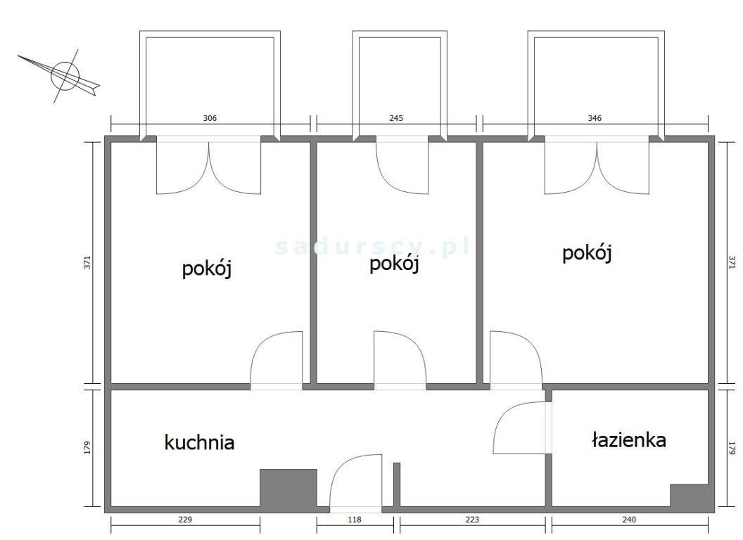 Mieszkanie trzypokojowe na sprzedaż Kraków, Czyżyny, Czyżyny, Marii Dąbrowskiej  49m2 Foto 2