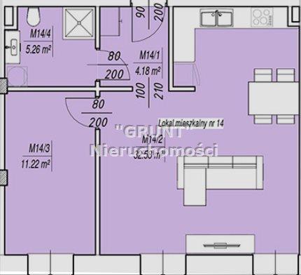 Mieszkanie trzypokojowe na sprzedaż Piła  58m2 Foto 8