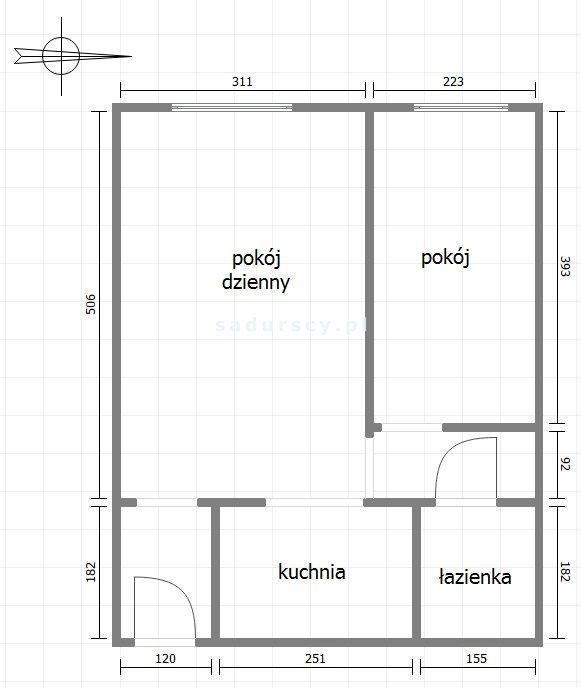 Mieszkanie dwupokojowe na sprzedaż Kraków, Krowodrza, Łobzów, Bronowicka  36m2 Foto 4