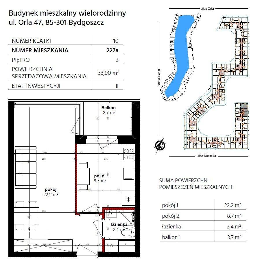 Mieszkanie trzypokojowe na sprzedaż Bydgoszcz, Szwederowo, Piękna  34m2 Foto 10