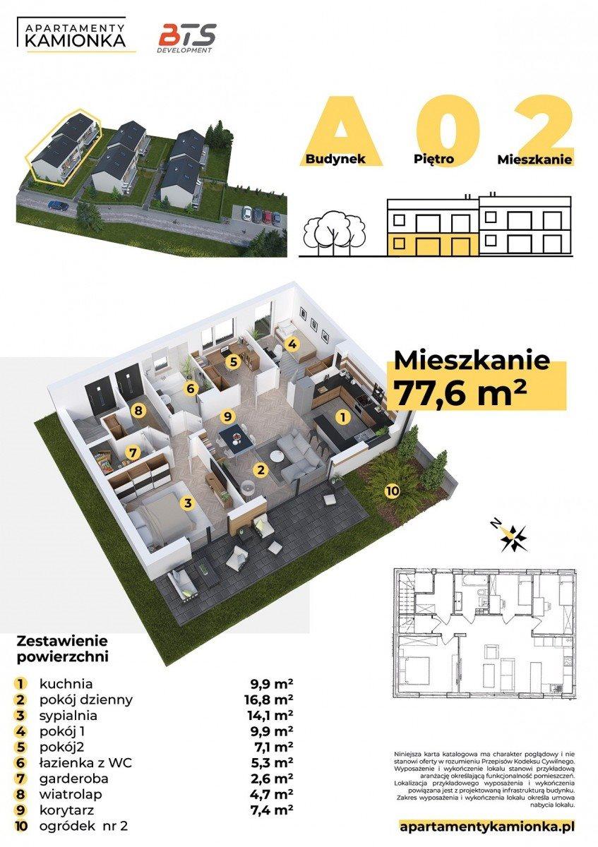 Mieszkanie czteropokojowe  na sprzedaż Mikołów, Poprzeczna  78m2 Foto 2