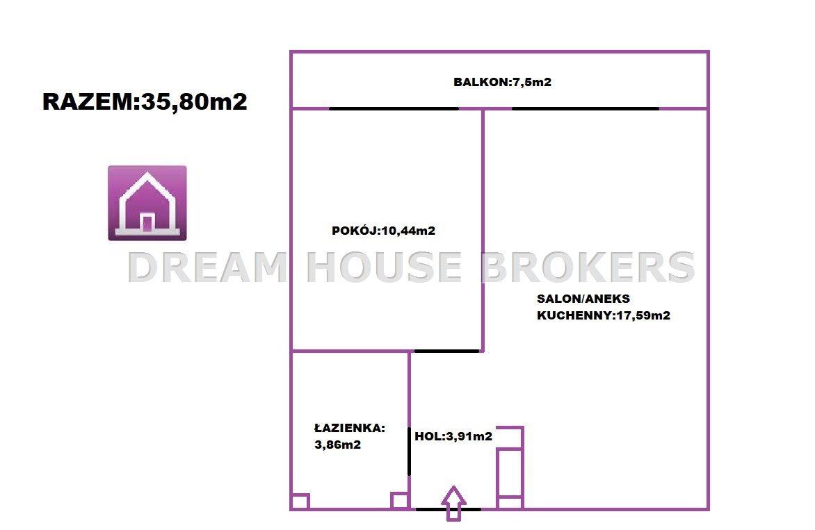 Mieszkanie dwupokojowe na sprzedaż Rzeszów, Staromieście, Lubelska  36m2 Foto 4