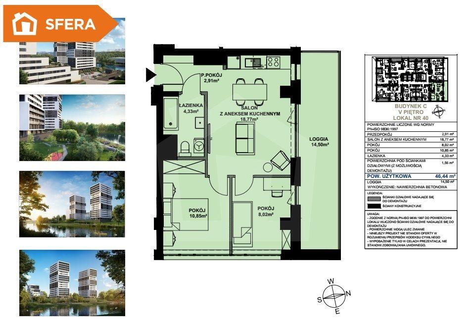 Mieszkanie trzypokojowe na sprzedaż Bydgoszcz, Bartodzieje  46m2 Foto 5