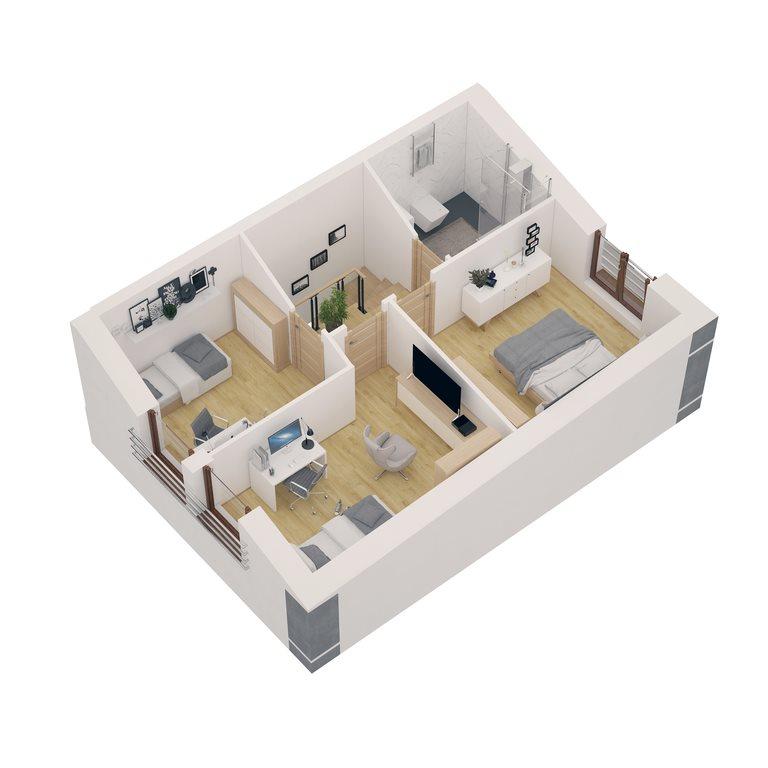 Mieszkanie czteropokojowe  na sprzedaż Komorniki  80m2 Foto 11